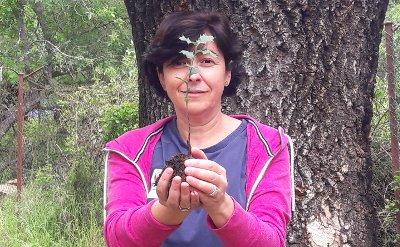 Esther Ocaña, Arribes del Duero, Planta un Quercus